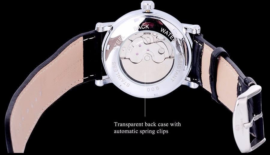 Мода Повседневная FORSINING мужчины бизнес марка часы белый циферблат турбийон наручные часы авто Механическая relogio masculino/A826