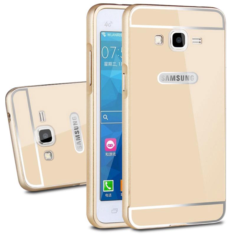 For Samsung Galaxy Grand Duos i9082 Neo Plus i9060 Luxury Ultra Thin Aluminum Case Capa Metal Frame + Slim Plastic PC Back Cover(China (Mainland))