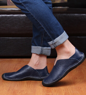 2015 new men's casual shoes genuine leather drivers breathable Loafers HP-3 - Linda's Fashion Store 99 store