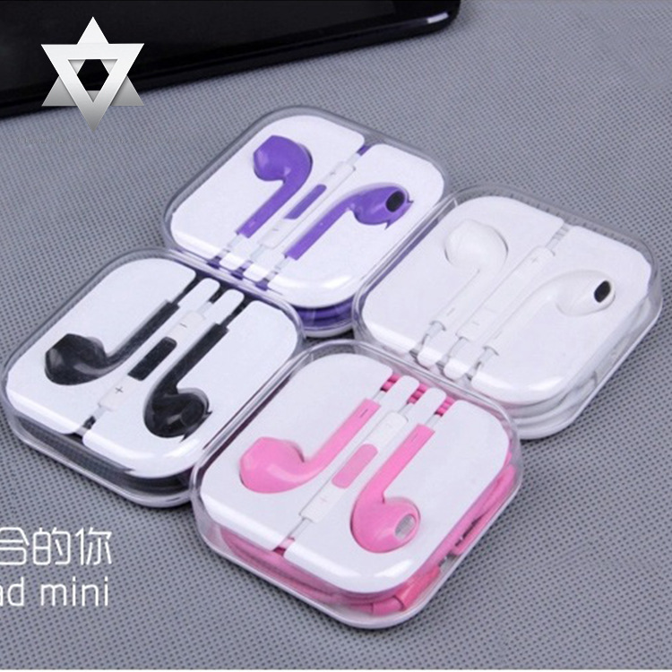 2015 Mobile phone headset in-ear headphones Candy mp3 headphones with I4/5S/I5/I6 / S4/5/6 5/6 android millet free shipping(China (Mainland))