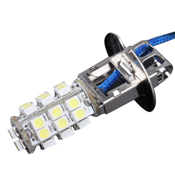 Гаджет  Brand New 2Pcs 12V H3 26 3w SMD LED Cold White Car Fog Head Light Lamp Bulb ES88 None Свет и освещение