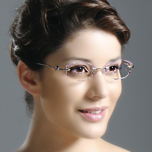 FREE SHIPPING Diamond rimless eyeglasses frame glasses frame diamond Women myopia glasses lensОдежда и ак�е��уары<br><br><br>Aliexpress