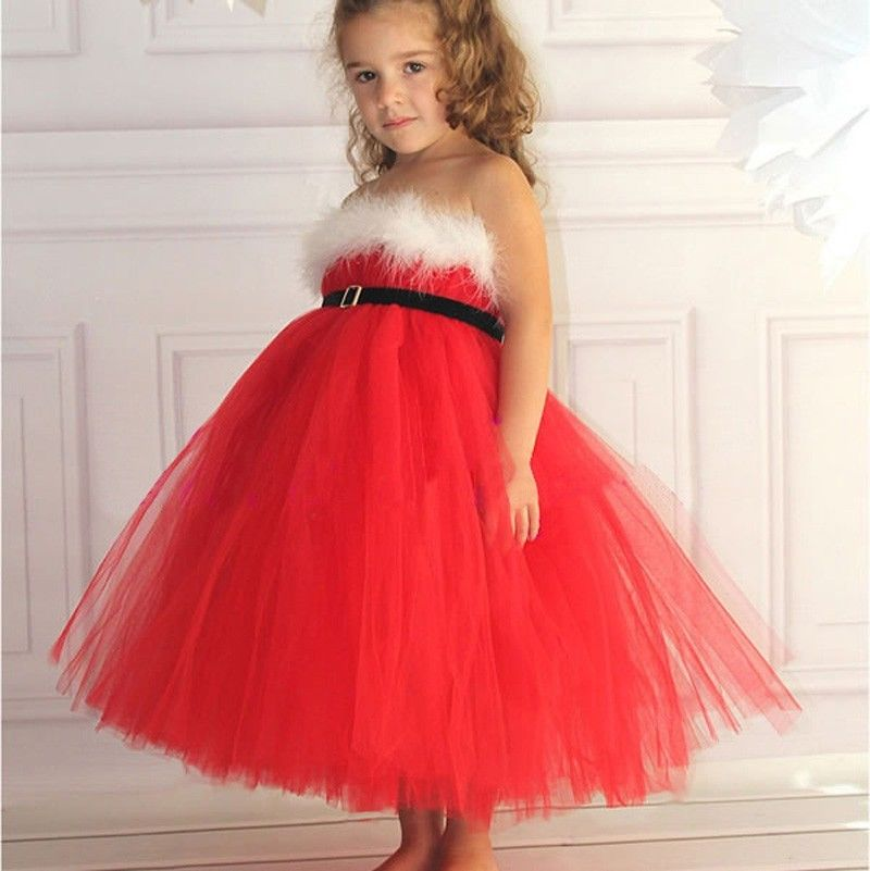 Girl clothing christmas fashion style baby girls lace kids clothes