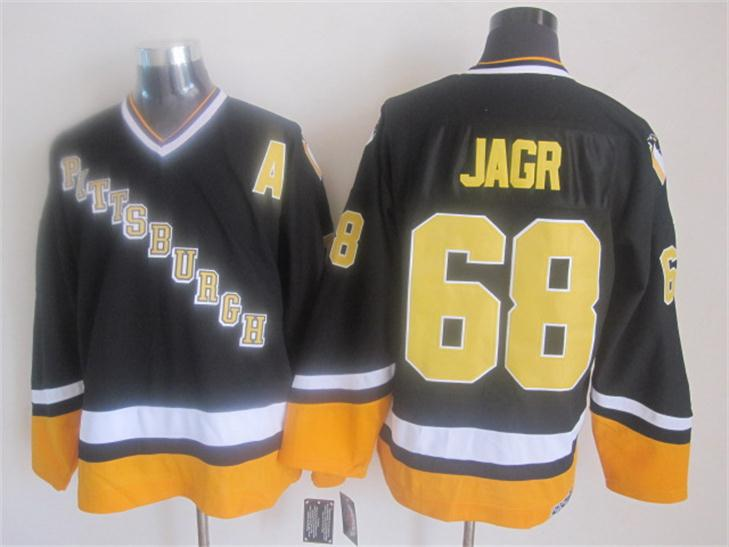09dbd4ed5 ... authentic 2015 new pittsburgh penguins mens jerseys 68 jaromir jagr  black ccm vintage ice hockey jersey