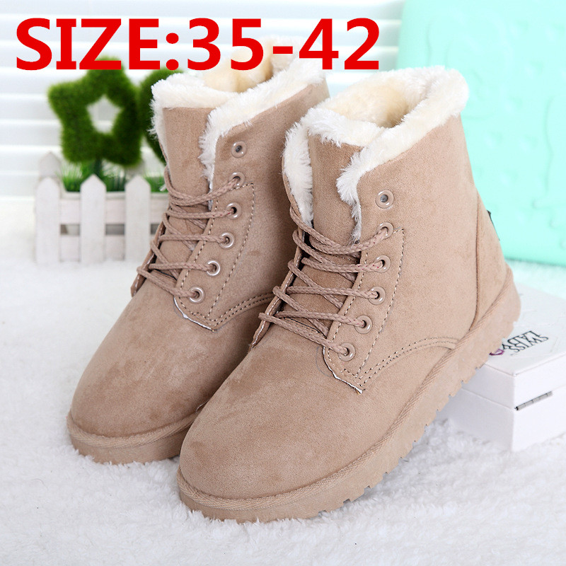 Women Winter Boots 35-41 Fashion Women Boots zapatos mujer Fur Snow Boots Women Ankle Boot Winter Shoes Warm Snow Shoes(China (Mainland))