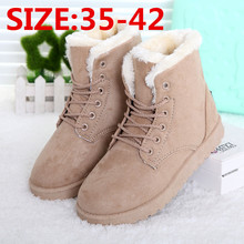 Women Winter Boots Fashion Women Boots zapatos mujer Fur Snow Boots Women Ankle Boot Flat Heels Winter Shoes Warm Snow Shoes