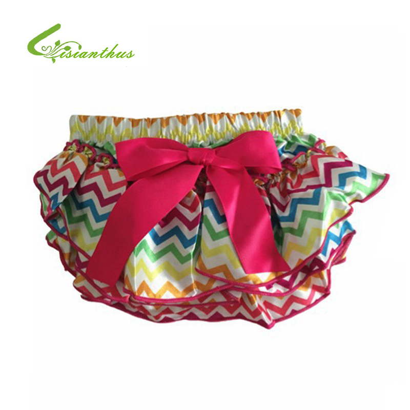 Baby Bloomers Girl Summer Ruffle Shorts Layers Infant Diaper Cover Newborn Clothing Toddler Cute Satin Pant with Skirt Free Ship(China (Mainland))