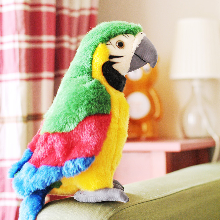 Фотография lovely plush simulation parrot toy macaw toy cute green mara parrot toy gift about 26cm