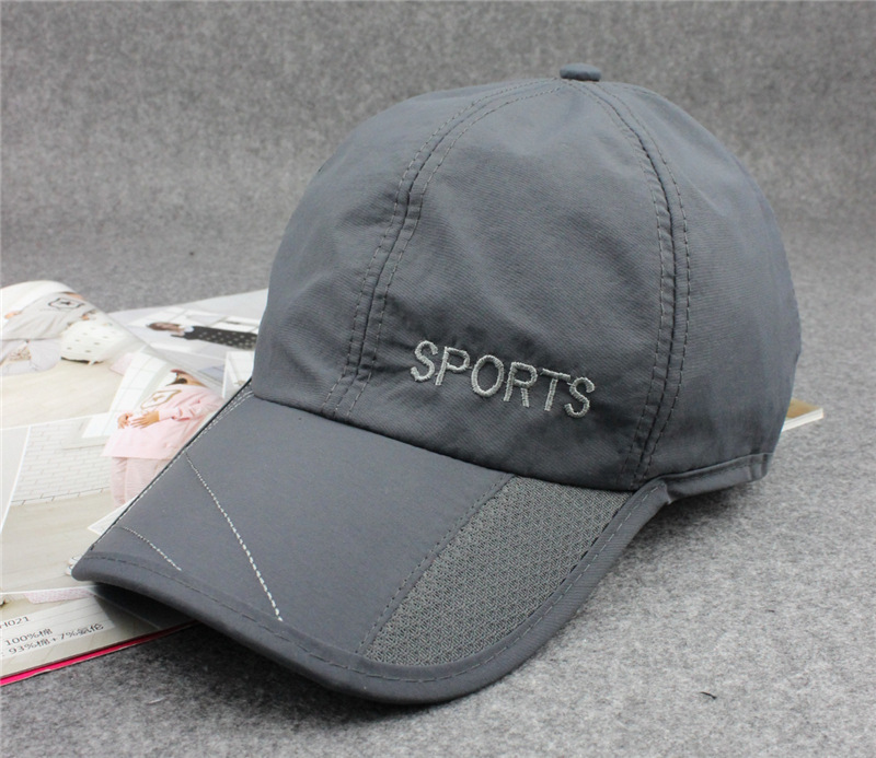 2015 Summer Men Black Red Blue Cap Breathable Sun Protection Hiking Camping Women Quick Dry Outdoor Waterproof Baseball Hat(China (Mainland))