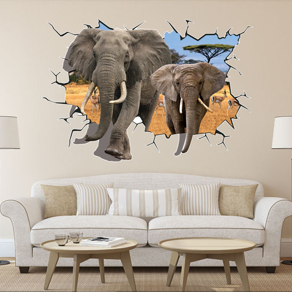 Home decoration 70 100cm africa rainforest animals African elephant home decor