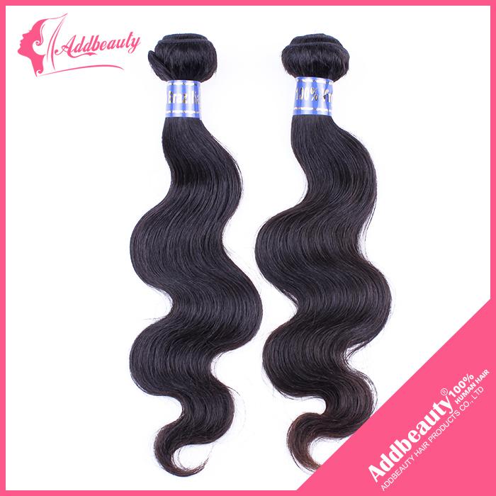 Addbeauty Unprocessed Brazilian Body Wave Hair,100% Real Human silk Hair 100g/Bundle, 2pcs/Lot Weave Weft Hair Extensions(China (Mainland))