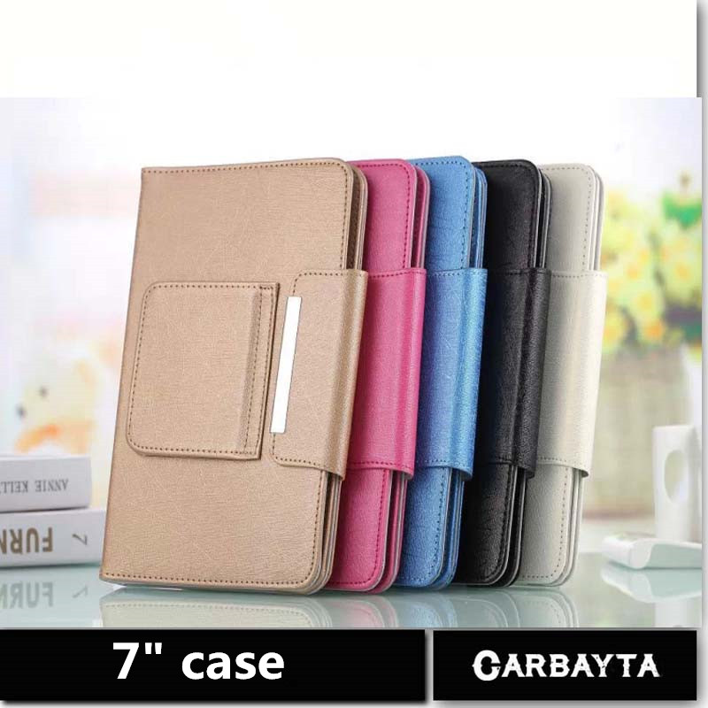 Hot Selling Super Deal 1PC Universal High quality PU Leather Stand Cover Case For 7 Inch Tablet PC general cover 5 Color(China (Mainland))