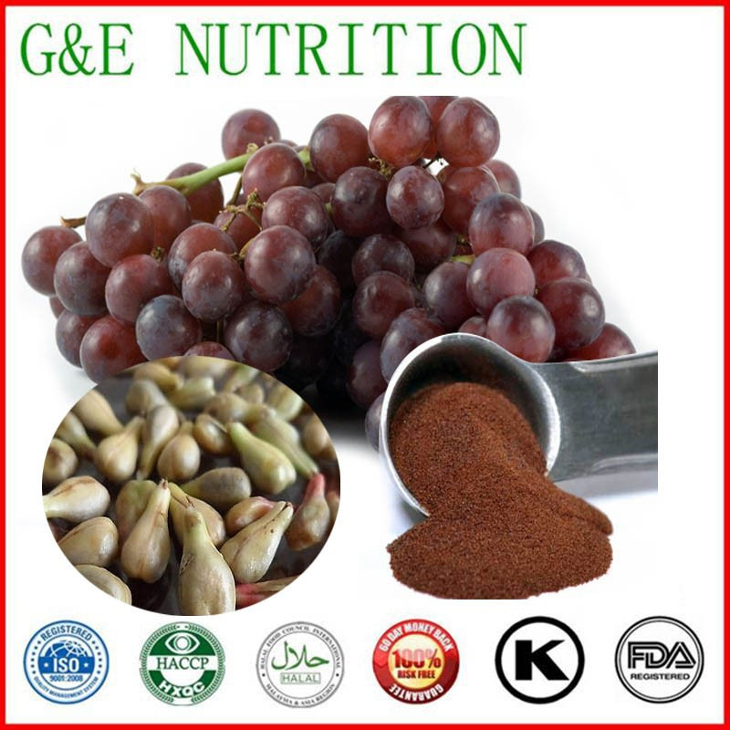 High purity 95% GPC, Water soluble Grape seed extract 95% OPC, Pure Grape seed extract powder 400g(China (Mainland))