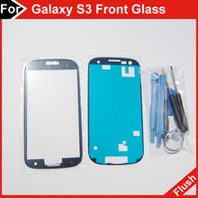 LCD Touch Screen Digitizer Front Lens for samsung galaxy s3 glass, gt i9300 outer glass blue free repair tools(China (Mainland))