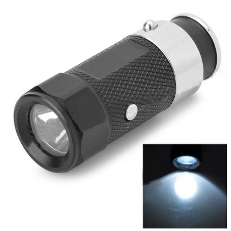 Mini Car Charging Cigarette Lighter Car Flashlight LED Rechargeable Torch Light ES88(China (Mainland))