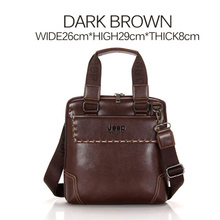 2015 New Brands Jeep Genuine Leather Men Briefcases Shoulder Bags For 12 inch Laptop Business Handbags Crossbody Bags Maletin (China (Mainland))