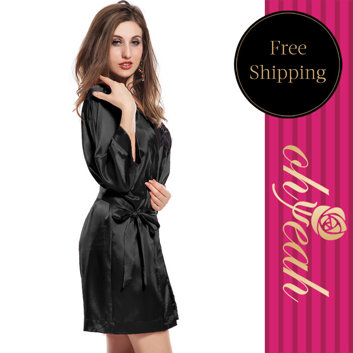 2016 Real Sexy Costumes Plus Size S-3xl Elegant Look Smooth Sheer Women's Pajamas Nightwear Best Choose Babydoll Lingerie Sexy