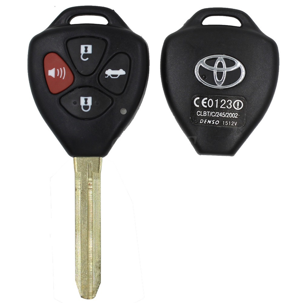 Remote 4 Buttons Key Shell Cover Fob Car Case For Toyota RAV4 Camry Avalon Corolla Matrix Yaris Venza For MB ML55 ML320(China (Mainland))