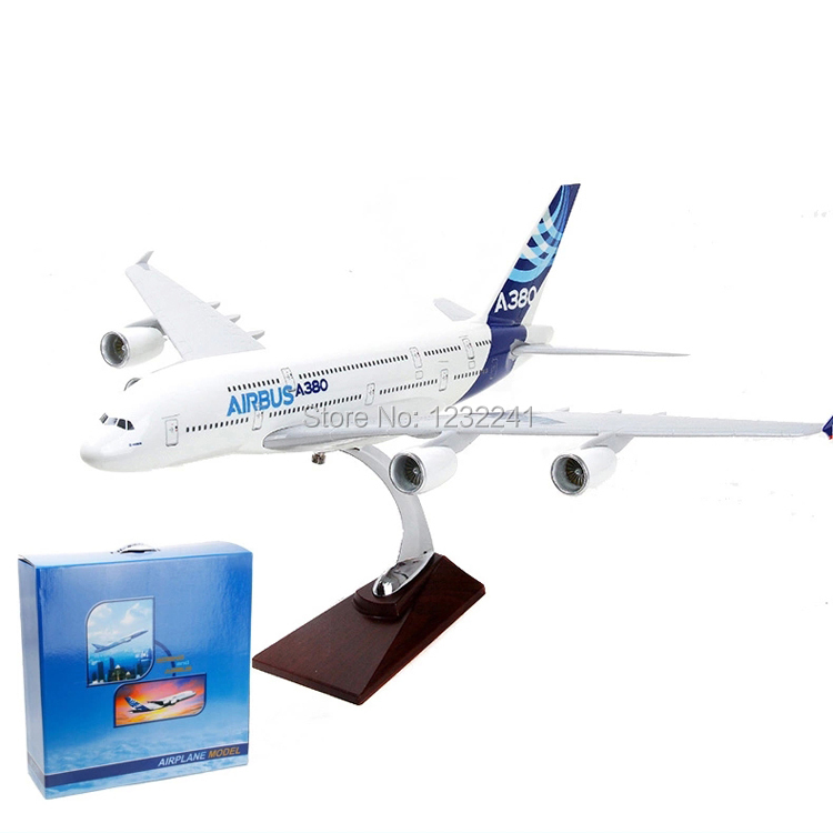 100% New A380 Airbus airplane models,36cm High Quality metal airlines plane model wholesale, airbus prototype machine(China (Mainland))