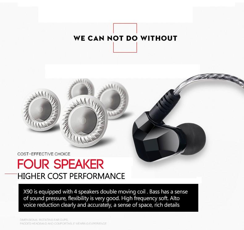 Original New Moxpad X90 Bluetooth 4.1 Stereo Headset In-Ear Sport Running Wireless Earphone Studio Music with Mic
