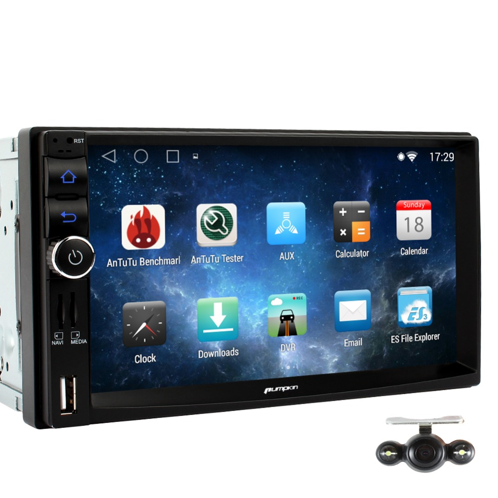 New Arrival! Android 4.4.4 Quad Core 1024*600 7INCH NO Car DVD player GPS Stereo 2GB DDR 32G  Support 1080P OBD2 3G WIFI+Camera <br>