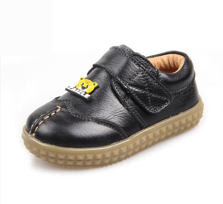 2016 детская обувь коровьей мальчиков кожа мягкое дно досуг детей дети водонепроницаемой кожи лодка кроссовки 21 - 25