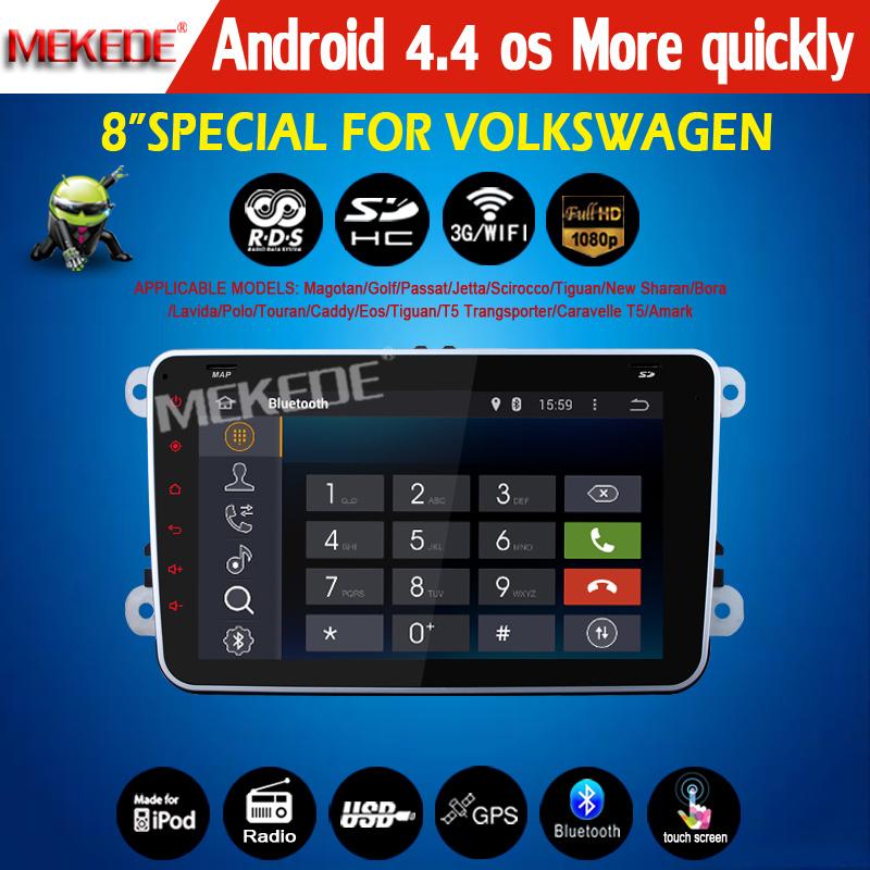 100% Pure Android 4.4 VW Car DVD GPS Navi 1.6G CPU RAM GOLF 6 new polo New Bora JETTA MK4 B6 PASSAT Tiguan SKODA OCTAVIA Fabia()