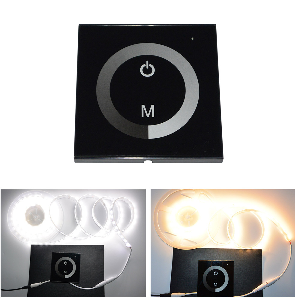 NEW Arrival 12-24V DC Touch Panel Dimmer Switch for Sigle Color LED Strip LED Lights Bulbs Common Anode(China (Mainland))