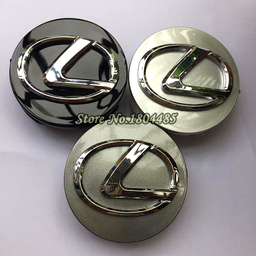 Top 4pcs/set 62mm Wheel hub Center Cap L e x u s Accessories Rim Cover Emblem Oval Logo Fit Rx300 Rx330 Rx400h freeshipping - RILYNL H Store store