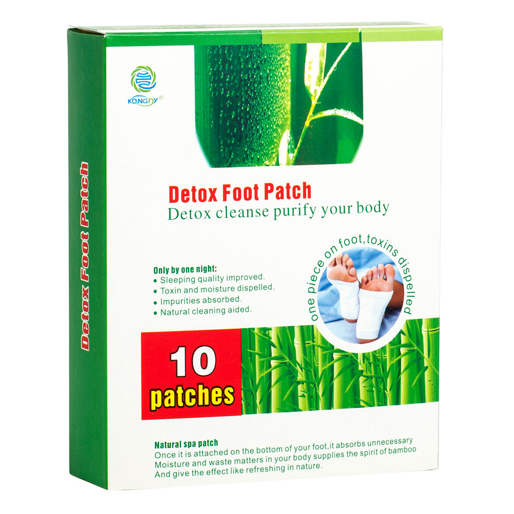 KONGDY New Arrival 10 Pieces/ Box Bamboo Vinegar Detox Foot Patch Detox Slim Foot Care Plaster Adhesive Detoxication Patch(China (Mainland))