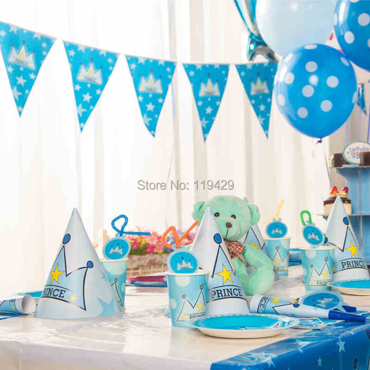 little prince for kid baby boy baby happy birthday party decoration ...