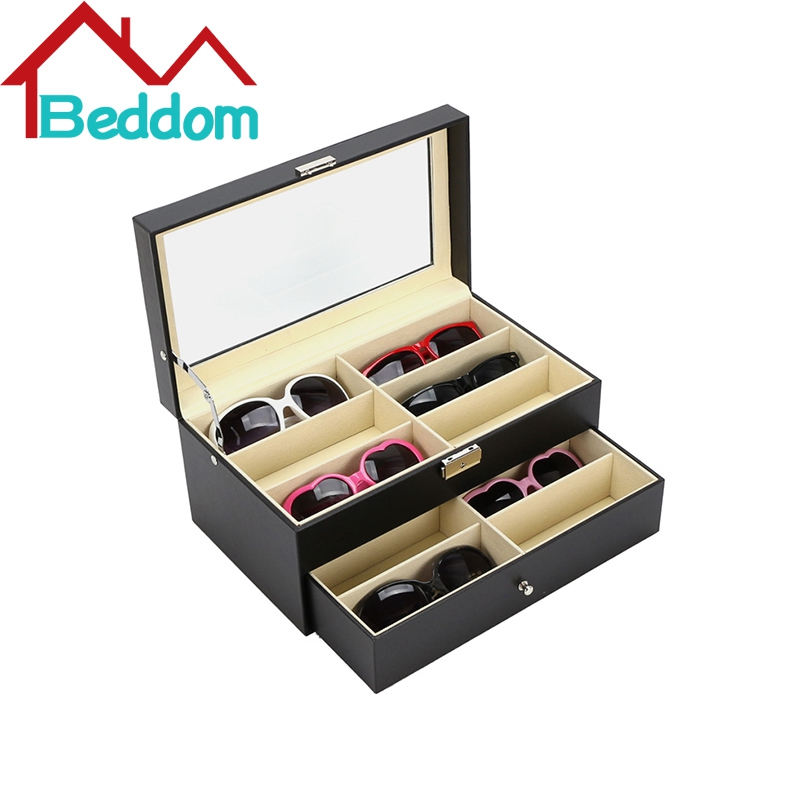 Beddom Sunglasses Box Double Layer 12 Slots Eyeglass Storage Organizer Box Eyewear Drawer Box Collector, Sunglasses Storage Box(China (Mainland))