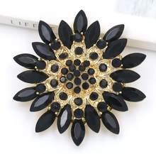 Baiduqiandu di Marca Classic di Cristallo Strass Big Daisy Flower Spille per Le Donne Cappotto o Bouquet Da Sposa(China)