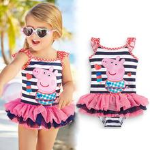 Buy 2017 New Cute baby girl swimwear one piece Kids girls swimsuit kid/children swimming Suit One Piece Swim Wear Children Swimming for $10.44 in AliExpress store