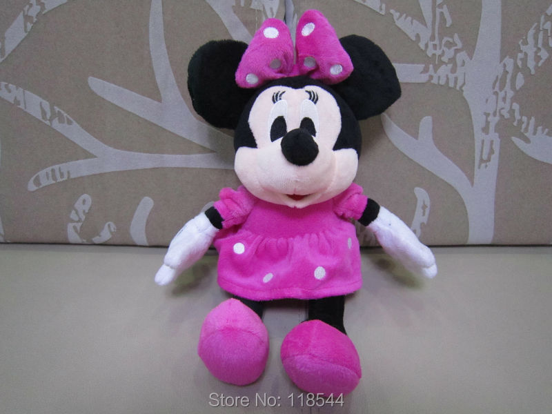 30cm pink minnie mouse plush mouse plush minnie mouse one piece free shipping(China (Mainland))