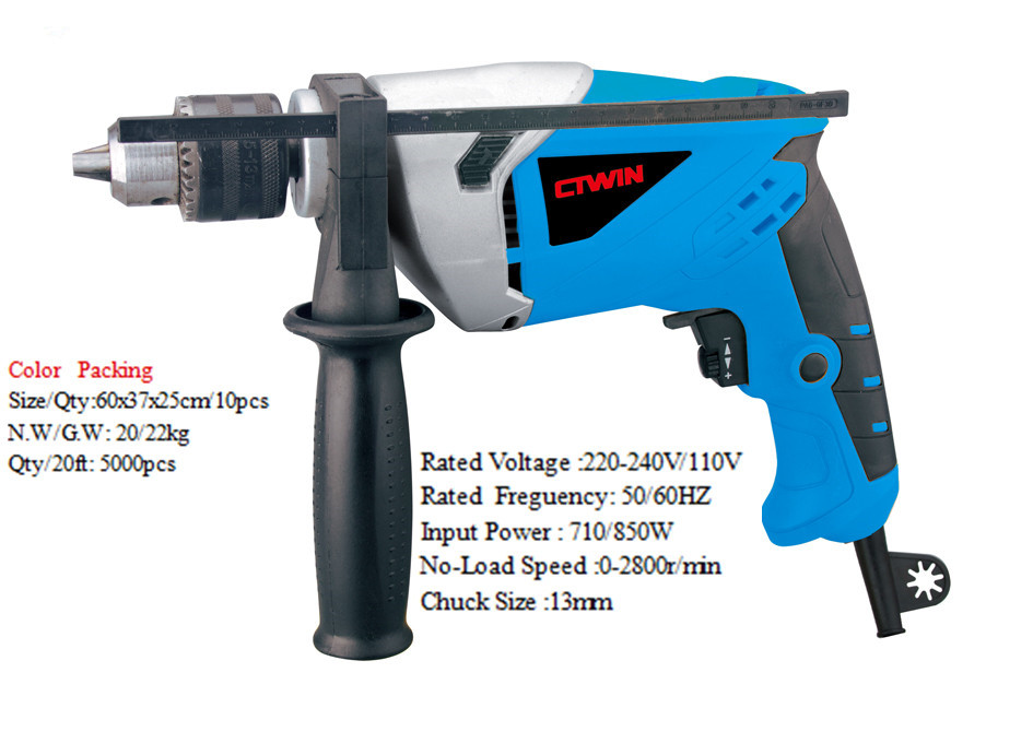Impact Drill Power Tools Electric Drill 850W Power Industrial Reversing Speed Hand Drill Steel Structure Engineering Tools(China (Mainland))