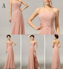 Cheap Custom made Mix style long Split Bridesmaid Dresses colors wedding dress Prom Dress party dress