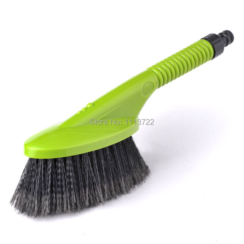 (CS-28659) CarSetCity Water Flow Car Wash Brush Connect to Water Pipe Convenient Soft Bristle Cleaning Brush(Hong Kong)