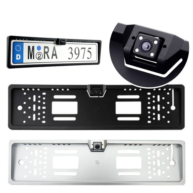 2016 Brand New New Arrival High Quality 170 European Car License Plate Frame Auto Reverse Rear View Backup Camera 4 LED(China (Mainland))