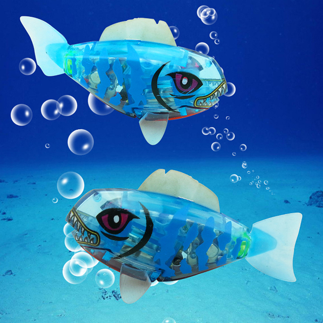 Fish Toy Activated ButtoN Battery Powered Robo Fish Toy Childen Kids Electronic Robotic Pets Baby Kids Bath Toys