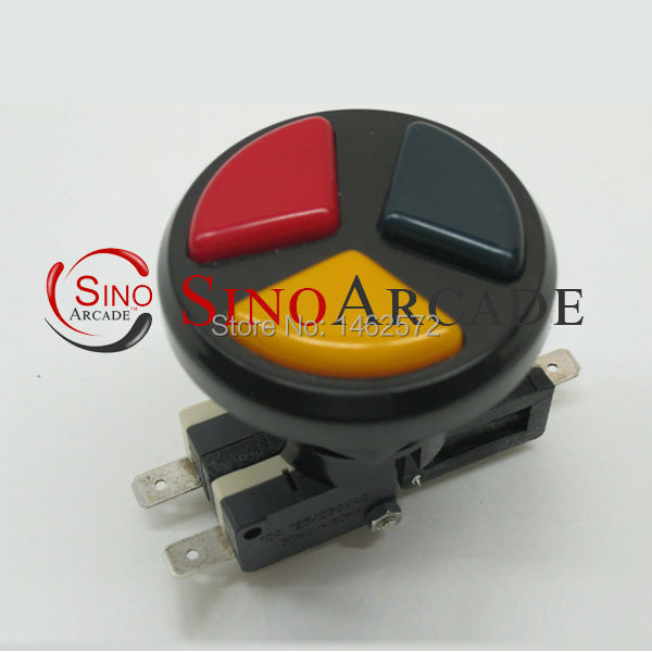 Arcade 3 in 1 round push button with microswithes triple color for arcade gane machines free shipping<br><br>Aliexpress