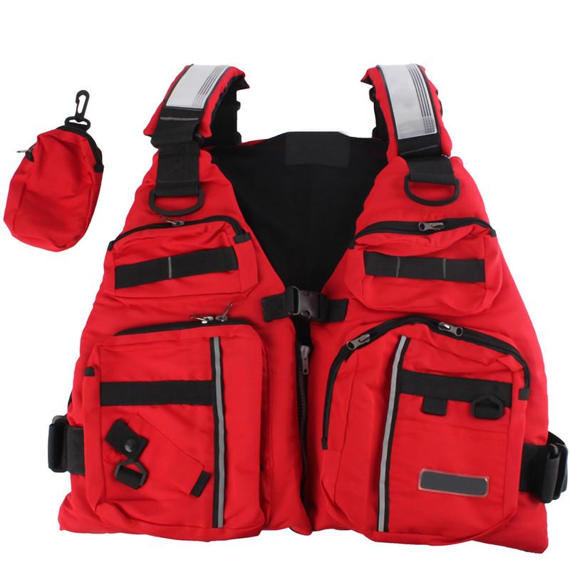 High Quality New Adult Buoyancy Aid Sailing Canoeing Boating Fishing Life Jacket Lifesaving Vest Red Waterproof Cloth + EPE Foam(China (Mainland))