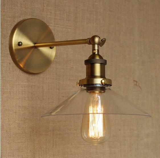 Фотография Retro Loft Edison Wall Sconce Glass Vintage Wall Light Fixtures Industrial Wall Lamp For Home Lighting Lampe Murale