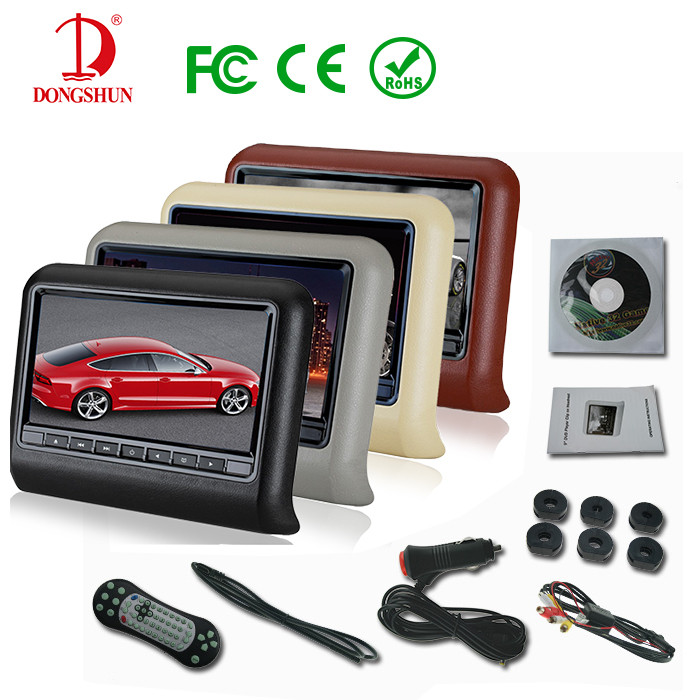 10 Inch hot sale Car Headrest DVD Player Monitor Built-in Speaker Support USB SD Games Remote Control 4 Colour Optional(China (Mainland))