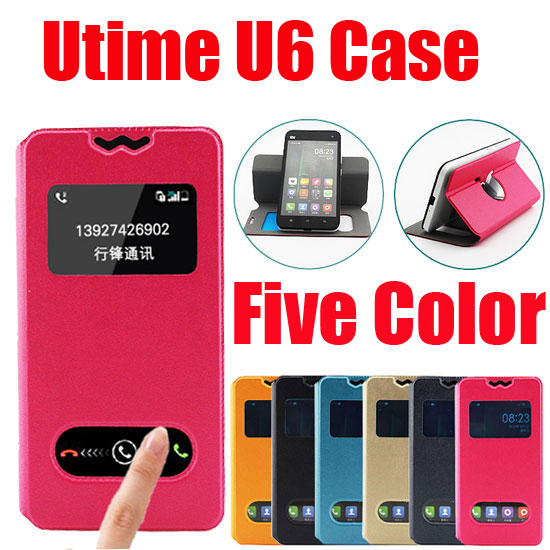 New item Fasion Leather Wallet bag case for Utime U6 Mobile phone Flip PU Case Back Cover In Stock D1(China (Mainland))