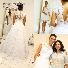 Fashion Knee Length Lace Wedding Dress with Removable Lace Skirt Sleeveless Lace Back Reception Dress(China (Mainland))