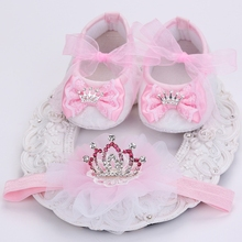 Boutique baby moccasins toddler;first walker brand baby shoes girls headband set;newborn baby girls shoes christening #JH002(China (Mainland))