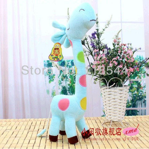 40cm blue plush giraffe valentine's gift cute toy child toy birthday presents birthday gifts free shipping(China (Mainland))