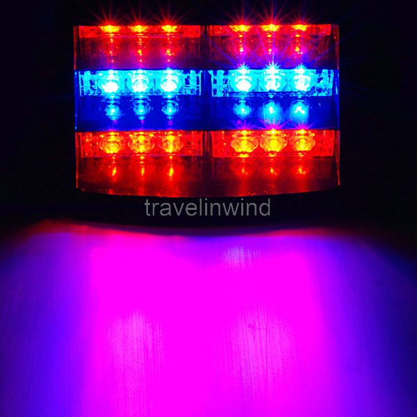 buy 18 led flashing strobe dash police. Black Bedroom Furniture Sets. Home Design Ideas
