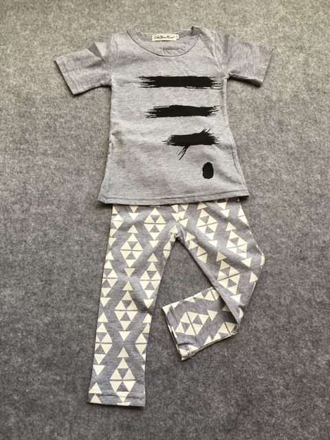 Summer baby boy/girl clothes children fashion t-shirt + pants kids 2pcs
